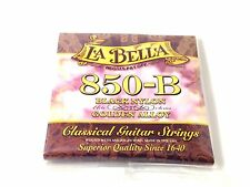 La Bella Guitar Strings  Nylon #850B Black Nylon Elite Golden Alloy Classical