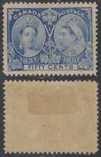 CANADA 1897 JUBILEE ISSUE QV Sc 60 KEY VALUE HINGED MINT SCV$375.00
