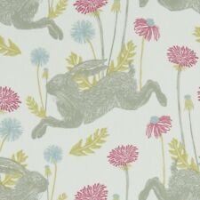 CLARKE and CLARKE(STUDIO G) 100% COTTON CURTAIN FABRIC/CRAFT MARCH HARE Summer