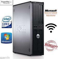 Fast Dell Desktop Tower Intel Core 2 Quad New 240Gb SSD 8GB Ram  Wi-Fi Windows 7