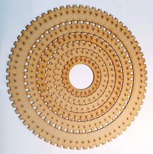 Circular weaving loom set laser cut wood