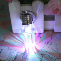 1PC New LED Flash Lights Keychain Colorful Flash U-Shape Glowing Bulb Key Ring