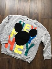 H&M Mickey Disney Multicoloured Buggy Oversized Jumper Hey Letters UK12
