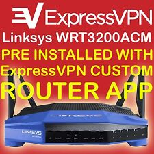 LINKSYS WRT3200ACM PREINSTALLED WITH  EXPRESSVPN ROUTER APP CUSTOM VPN FIRMWARE