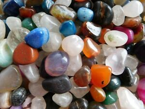 Bulk Pack 1 Kilo Assorted Mini Crystal Tumblestones Size Approx 8mm - 18mm