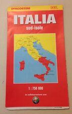 D24  Carta stradale De Agostini - italia Sud- isole - 1997