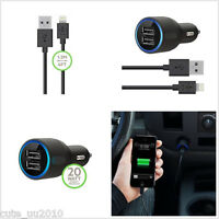 Led 2.1A 2-Port Car Charger & Micro-USB Cable For iPhone Universal 5/5C/5S/6/6P