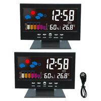 #QZO Voice Control Digital Hygrometer Indoor Alarm Clock Calendar Thermometer