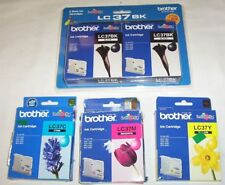 5 x Brother genuine LC37 cartridges 2xblack,1xcyan,magenta,yellow for MFC-260C++