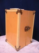 """Doll Trunk Vintage Metal Carrying Case fits up to a 9"""" doll 1950's"""