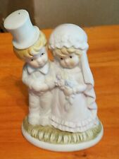 "Vintage Bisque Bride And Groom Cake Topper Figurine 5"" tall"