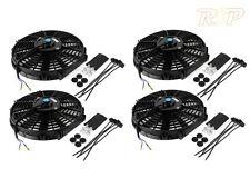 "4 x 12"" Slim Universal Electric Radiator / Intercooler Cooling Fan & Fitting Kit"