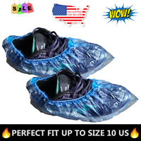 100x Waterproof Boot Shoe Covers Plastic Disposable Overshoes Protector USA SHIP