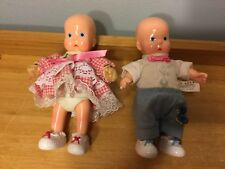 "Horsman Twin Baby Dolls Repro Hebee & Shebee-6""-New -1996"