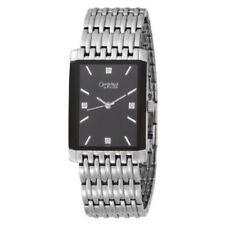 Caravelle By Bulov 43D007 Men's Diamond Accented Black Dial Steel Bracelet Watch