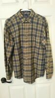 Sir Pendleton Pure Worsted Wool Button Down Outdoor Shirt Mens M Plaid