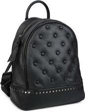 styleBREAKER mochila de mujer, bolso de mano con remaches en estilo Chesterfield