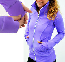LULULEMON Contempo Jacket Full Zip Luon Forme Define Power Purple Pockets 6