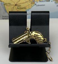 """SHIPS SAME DAY Gun Keychain Gold Approx. 2"""" Inches"""