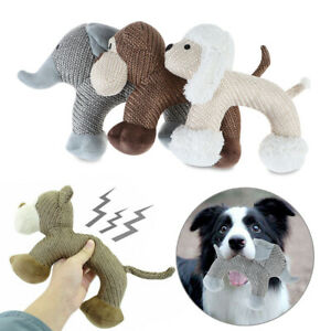 Interactive Chew Toys Cat Dog Indestructible Stuffed Squeaky Toy Sound Squeaker