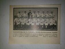 Vancouver Beavers 1910 Team Picture Joe Sugden Harry Gardner Ed Householder