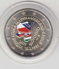 Slowakei  2 €   Visegrad Abkommen    2011  coloriert  Farbmünze