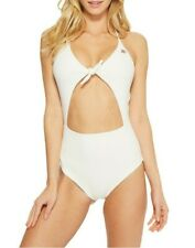 Spiritual Gangster Women's White Go With The Flow One-piece Swimsuit Size Large