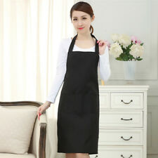 Cheap Hot Unisex Solid Cooking Kitchen Restaurant Bib Apron Dress w/ Pockets PZ1
