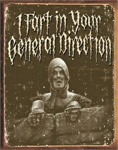 I Fart Monty Python Holy Grail Metal Sign New Repro Poster Comedy Movie Film USA