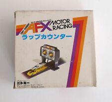 Vintage Slot Race Car Set Tomy Aurora AFX Motor Racing LAPCOUNTER Japan MIB