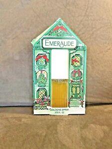 Coty Perfume Emeraude Spray Vintage Cologne 0.375 oz CHRISTMAS GIFT BOXED SEALED