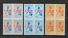 Philippine Stamps 1969 League of Red Cross Societies Complete set Blocks of 4 MN