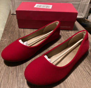 Dream Pairs Red Suede Girls NEW-MUY Shoes Size 4 (New In Box)
