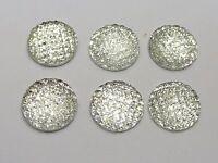 50 Mezclados Neón color Cabujón de Resina con Dorso duro para Libros de Diamantes de Imitación de Estrella de puntos Gemas 15X15mm