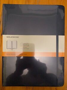 New Moleskine Classic Collection Black Notebook Extra Large Ruled Hard Cover