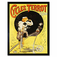 Plouzeau Cycles Terrot Bicycle Tunnel Train Advert Framed Wall Art Poster