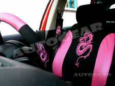 Pink Dragon Car 13pc Mats,Pads,Steering & Seat Covers