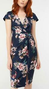 MONSOON - CIARA PRINT DRESS  - Size 16  or 18 Navy (Brand New With Tags)