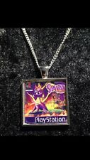 Retro Gaming Necklace And Keyring  Playstation PS1 Spyro The Dragon Skylanders