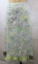 Size L 14 Ladies White Skirt Casual Boho Chic Work Feminine Beach Crinkle Design