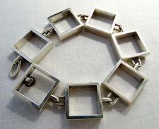 Hans Hansen rare vintage bracelet, 925 sterling silver, square links.