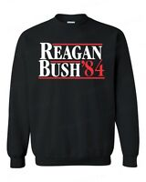 REAGAN BUSH `84 Crewneck Fun Political Election Ronald 80s Republican Sweatshirt
