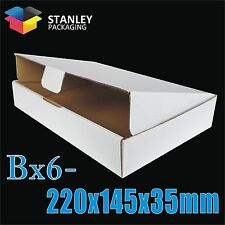 50 Mailing Box Bx6 220x145x35mm Diecut Strong Mailer Boxes Video DVD CD 220mm