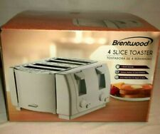 Brentwood White 4-Slice Toaster Model Ts-265 Extra Wide Bagel Slots Nib!