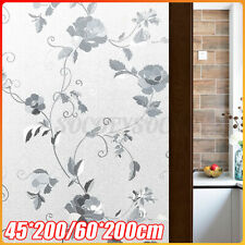 2pcs Window Film Stickers PVC Anti UV Privacy Film Peony Flower Window Decor US