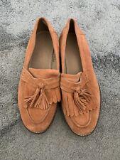 Womens Asos Orange Tan Loafers Uk 8