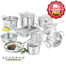 Scanpan Impact 10pcs Cookware Set Stainless Steel | RRP 1100