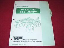 Massey Ferguson 120 220 Disc Harrow Dealer's Parts Book