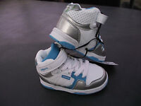 BNWT Little Girls Sz 12 Rivers Doghouse Brand Blue White High Top Jogger Shoes