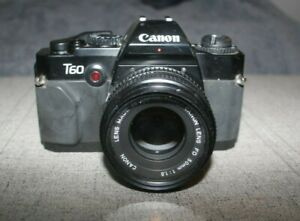 Canon T60 Film Camera W/50MM Lens Untested As Is